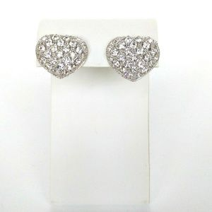 Vintage Crystal Heart Earrings